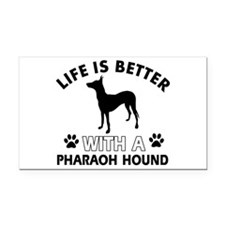 Life is better with Pharaoh Hound Rectangle Car Ma