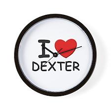 I love Dexter Wall Clock