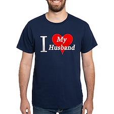 I Love My Husband Navy T-Shirt