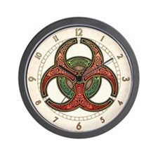 Knotwork Biohazard Wall Clock