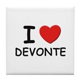 I love Devonte Tile Coaster