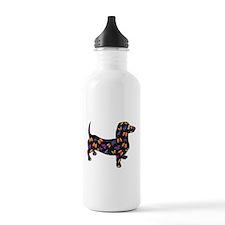Butterfly Doxie Dachshund Water Bottle