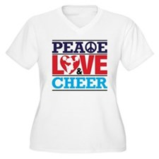 Peace Love and Cheer Plus Size T-Shirt