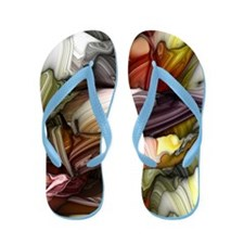 Colorful Abstract Flip Flops