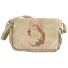 Malamute Words Messenger Bag