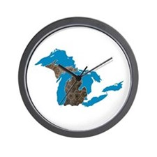 Great lakes Michigan petoskey stone Wall Clock