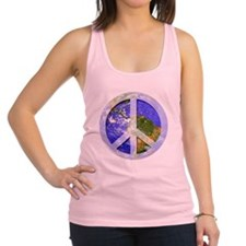 2-peaceonearth1.png Racerback Tank Top