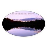 Adirondack Park Photo Oval Decal
