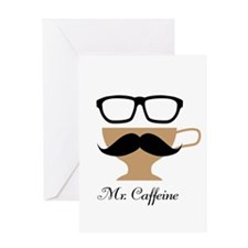 Mr. Caffeine Greeting Card