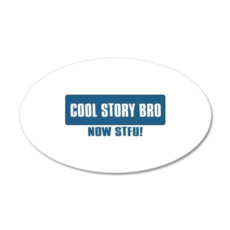 Funny Designs 35x21 Oval Wall Decal