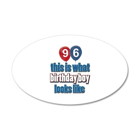 This is what 96 looks like 20x12 Oval Wall Decal