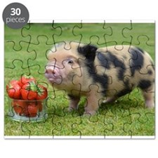 Little micro pig with strawberries Puzzle