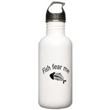 Fish fear me Sports Water Bottle