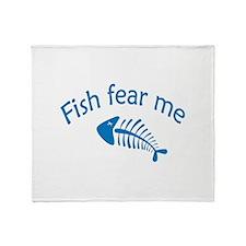 Fish fear me Stadium Blanket