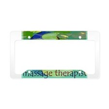 Massage Therapist / Waterlily License Plate Holder
