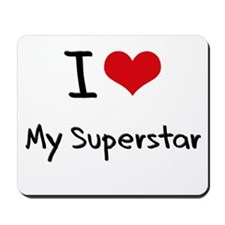 I love My Superstar Mousepad