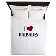 I LOVE HILLBILLIES Queen Duvet