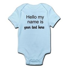 HELLO MY NAME IS ------- Body Suit