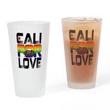 Cali For Love LGBT California Drinking Glass