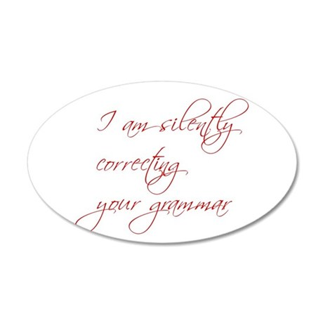 silently-correcting-script Wall Decal