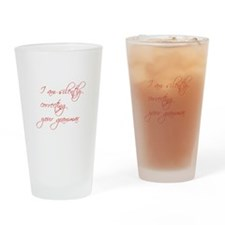 silently-correcting-script Drinking Glass