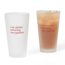 silently-correcting-opt-red Drinking Glass