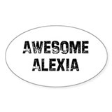 Awesome Alexia Oval Decal