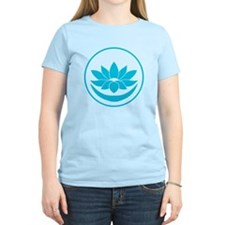 Buddhist Lotus Blue T-Shirt