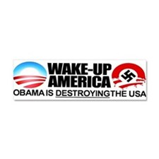 Unique Stop obama Car Magnet 10 x 3