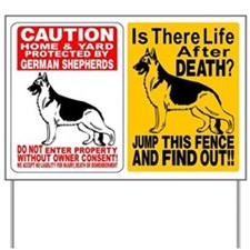 (2) GERMAN SHEPHERD DOG SIGNS Yard Sign