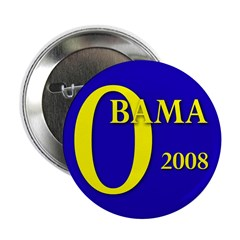 "Blue O: Obama 2008 2.25"" Button (100 pack)"