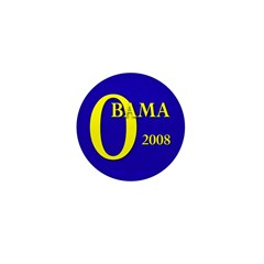 Blue O: Obama 2008 Mini Button (100 pack)