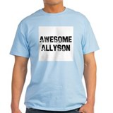 Awesome Allyson Ash Grey T-Shirt