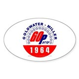 Goldwater Miller 1964 Oval Decal