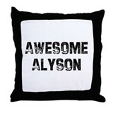 Awesome Alyson Throw Pillow