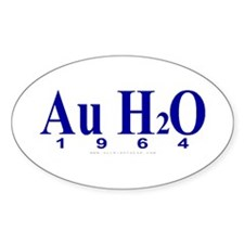Au H2O (Goldwater) Oval Decal