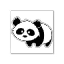 Cute Little Panda Oval Sticker