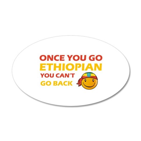 Ethiopian smiley designs 20x12 Oval Wall Decal
