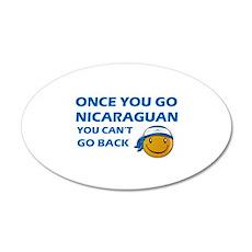 Nicaraguan smiley designs 35x21 Oval Wall Decal
