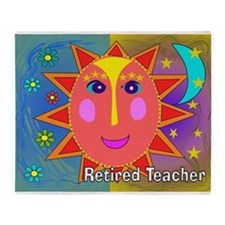 Retired Teacher Sun Moon Blanket Throw Blanket