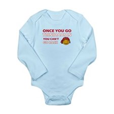 Paraguayan smiley designs Long Sleeve Infant Bodys