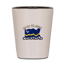 Patriotic Curacao designs Shot Glass