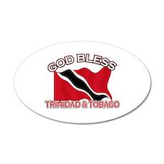 Patriotic Trinidad & Tobaco designs 20x12 Oval Wal