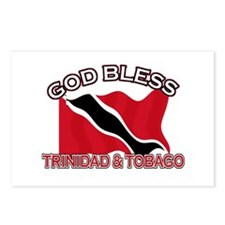 Patriotic Trinidad & Tobaco designs Postcards (Pac