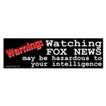 Watching Fox News Bumper Sticker