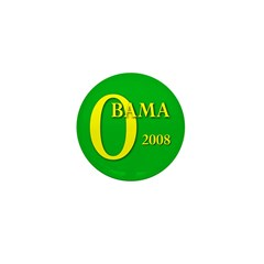 Green Obama for President Mini Button (100 pack)