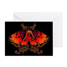 Butterfly Woman Greeting Card
