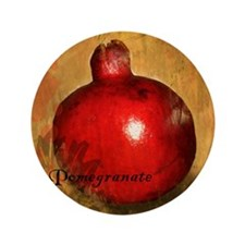 "Botanical Pomegranate 3.5"" Button"