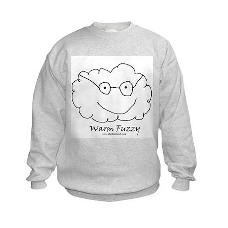 Warm Fuzzy with glasses Kids Sweatshirt