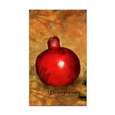 Botanical Pomegranate Rectangle Car Magnet